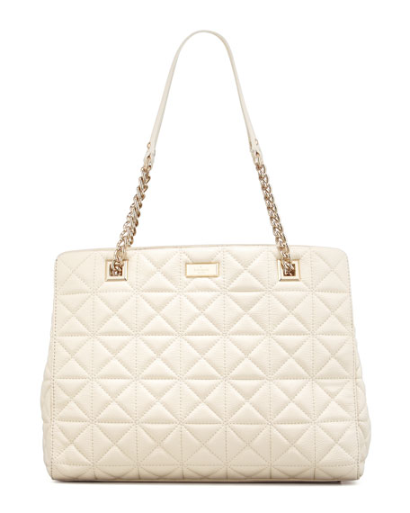 sedgwick place phoebe tote bag, cream
