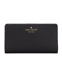 kate spade new york cherry lane stacy wallet, black
