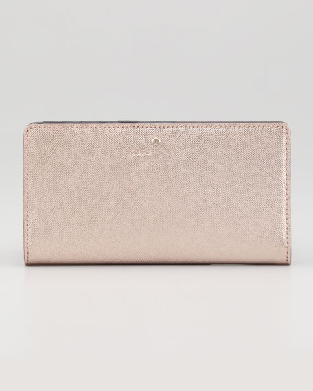 cherry lane stacy wallet, rose gold