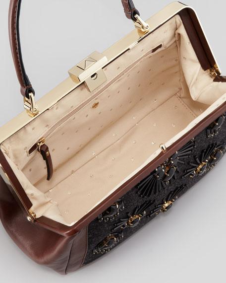 cricket street small emilia embellished handbag