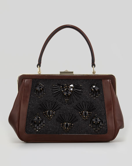 cricket street small emilia embellished handbag