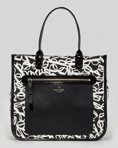 aurelia court jessmin printed nylon tote bag