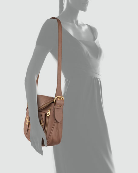 Petal to the Metal Natasha Shoulder Bag, Brown