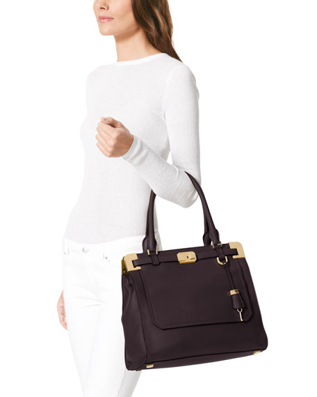 Blake Pebbled Leather Satchel