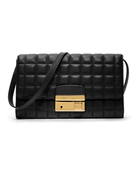 Gia Quilted Leather Clutch