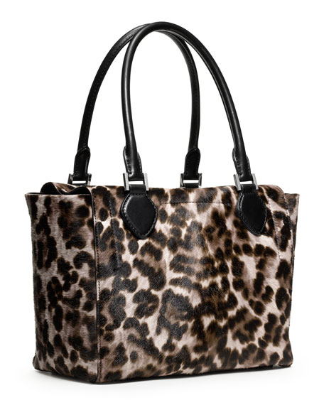 Large Miranda Cheetah-Print Calf-Hair Tote