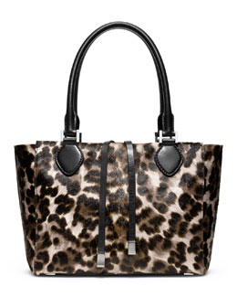 Michael Kors  Large Miranda Cheetah-Print Calf-Hair Tote