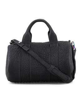 Alexander Wang Rocco Stud-Bottom Satchel, Black/Iridescent