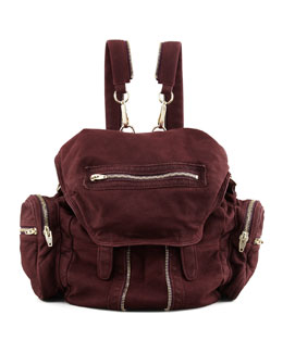 Alexander Wang Marti Convertible Nubuck Backpack, Raisin