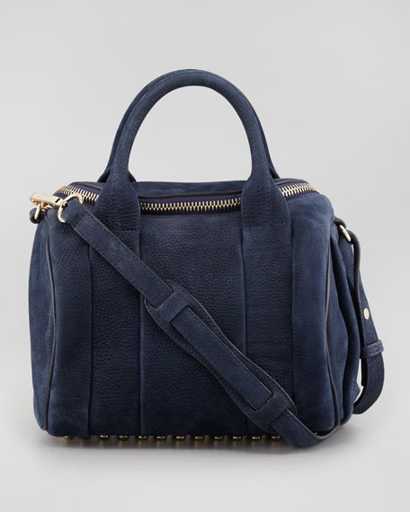 Rockie Small Crossbody Satchel Bag, Navy