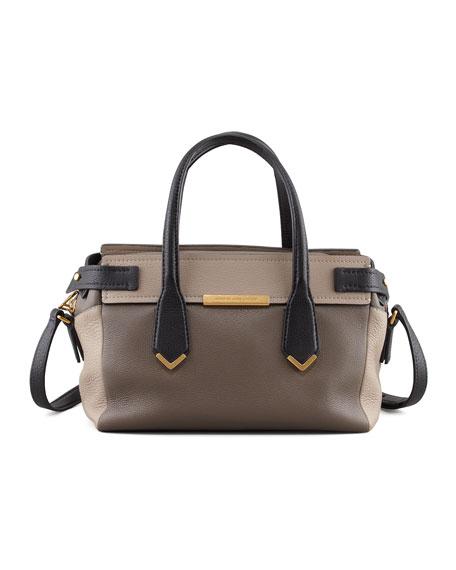 Hail to the Queen Liz Colorblock Satchel Bag, Gray Multi