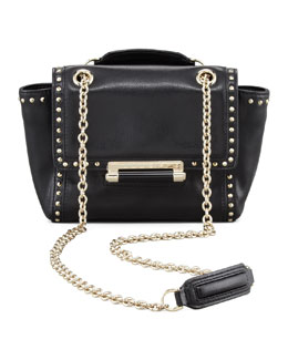 Diane von Furstenberg 440 Mini Studded Flap-Top Crossbody Bag, Black