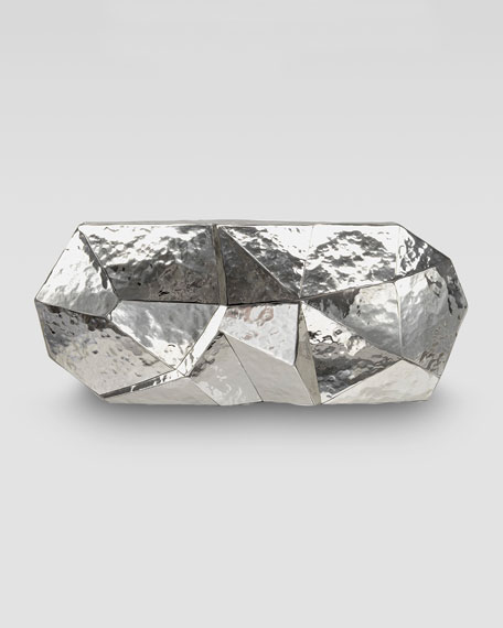 Maryanne Stainless Steel Faceted Minaudiere