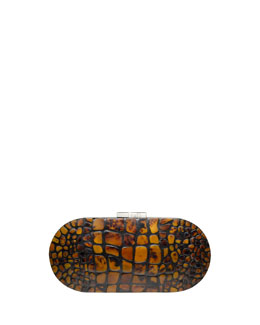 Rafe Mary Alice Small Shell Clutch Bag, Brown