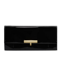 Reed Krakoff Patent Leather T-Pin Clutch Bag, Black