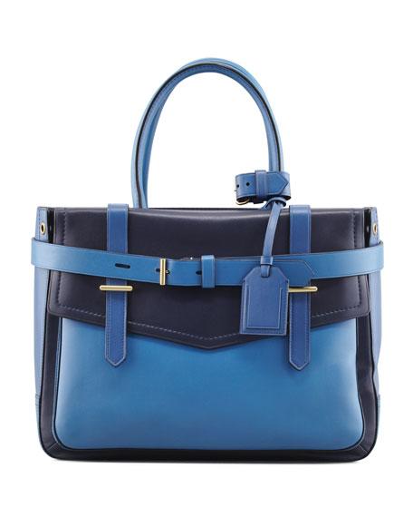 Boxer Tote Bag, Navy/Cobalt