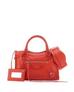 Balenciaga Classic Mini City Bag, Rouge