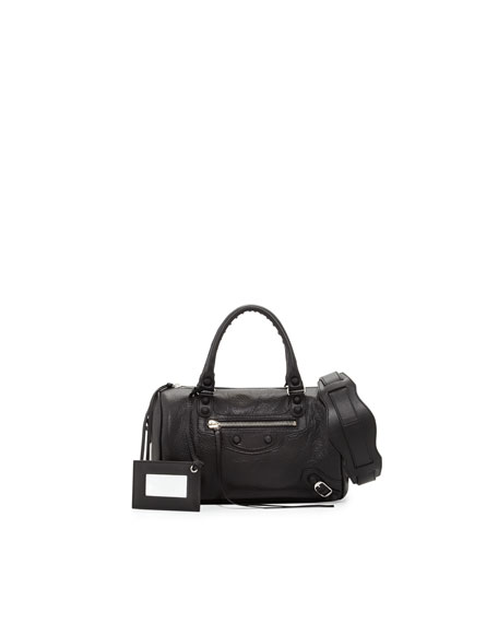 Classic Mini Twiggy Satchel Bag, Black