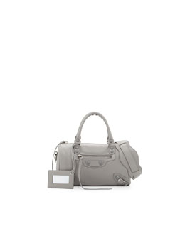 Balenciaga Classic Mini Twiggy Satchel Bag, Gray