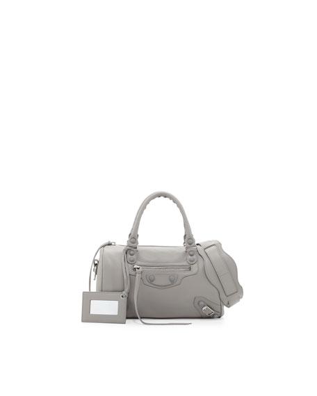 Classic Mini Twiggy Satchel Bag, Gray