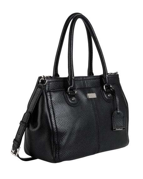 Village East-West Snap Satchel, Black