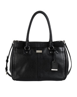 Cole Haan Village East-West Snap Satchel, Black