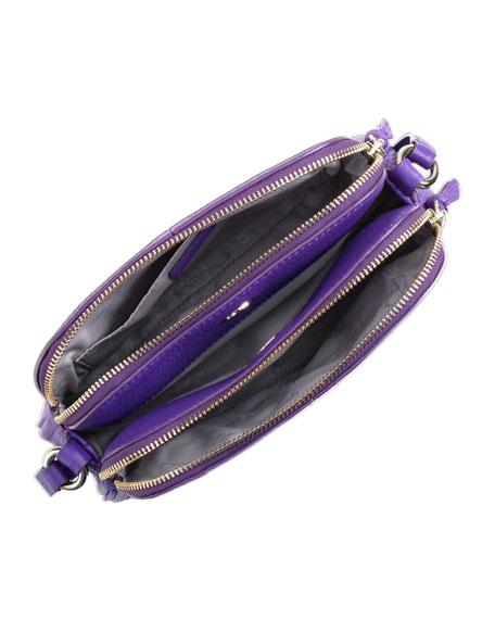 Village Double-Zip Crossbody Bag, Purple