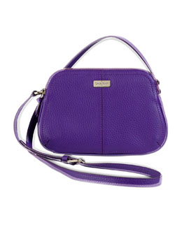 Cole Haan Village Double-Zip Crossbody Bag, Purple