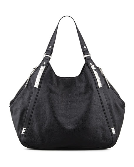 Libra Colorblock Hobo Bag, Black