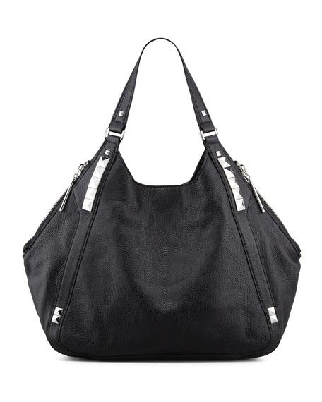 Libra Colorblock Hobo Bag, Black