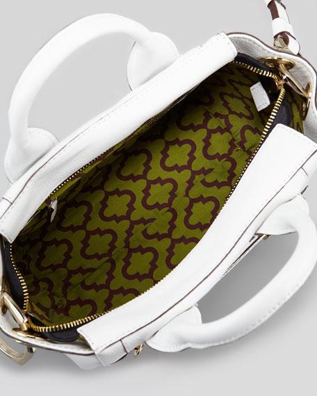Angelina Small Satchel Bag, White