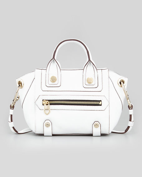 Angelina Small Satchel Bag, White