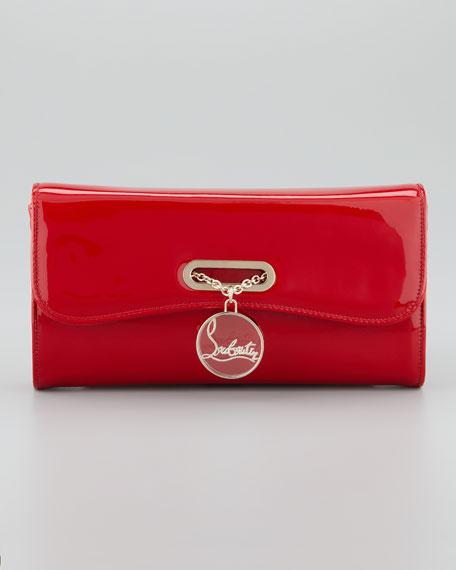 Riviera Patent Clutch Bag, Rouge Lipstick