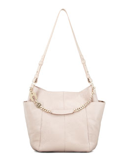 Jimmy Choo Anna Shoulder Bag Leather Tote Bag, Neutral