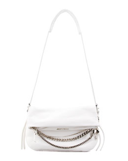 Jimmy Choo Biker Small Crossbody Bag, White