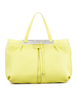 Jimmy Choo Ferris Leather Tote Bag, Yellow