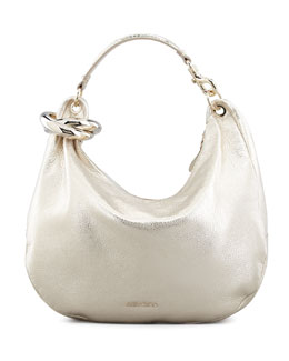 Jimmy Choo Solar Metallic Bracelet Hobo Bag, Light Gold