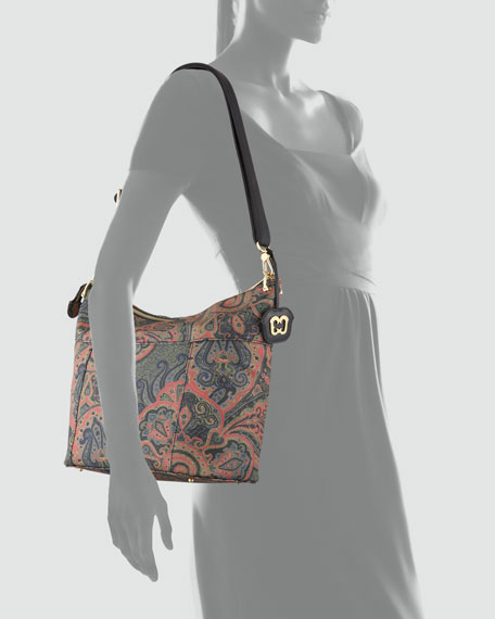 Barton Paisley-Print Shoulder Bag