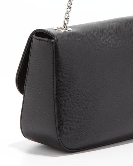 Rory Chain-Strap Shoulder Bag, Black