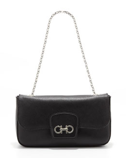 Salvatore Ferragamo Rory Chain-Strap Shoulder Bag, Black