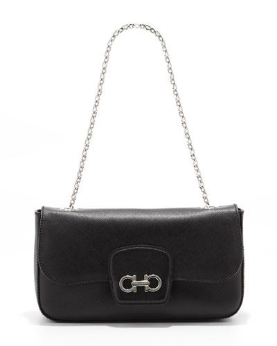 Salvatore Ferragamo Rory Chain-Strap Shoulder Bag, Black