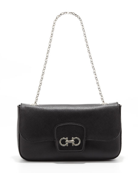 Rory Chain-Strap Shoulder Bag, Black
