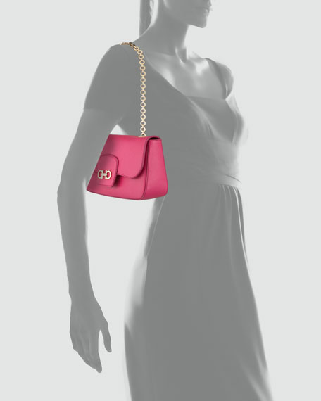 Rory Chain-Strap Shoulder Bag, Agata Rosa