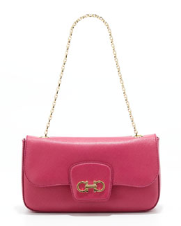 Salvatore Ferragamo Rory Chain-Strap Shoulder Bag, Agata Rosa