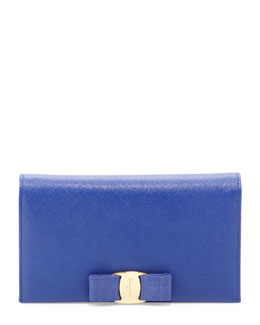 Salvatore Ferragamo Miss Vara Leather Wallet-on-a-Chain, Zaffiro Viola