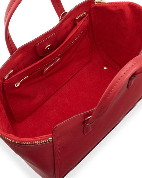 Salvatore Ferragamo Verve Light Zip-Side Tote Bag, Rosso daa7030ed1
