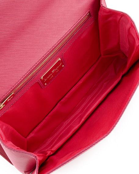 Vara Ginny Flap-Top Crossbody Bag, Agata Rosa