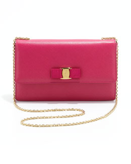 Salvatore Ferragamo Vara Ginny Flap-Top Crossbody Bag, Agata Rosa