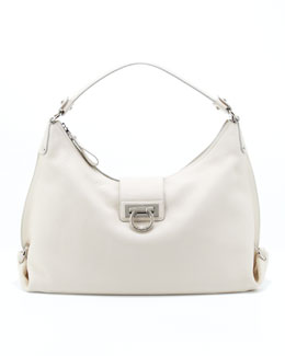 Salvatore Ferragamo Fanisa Gancini Hobo Bag, Butter