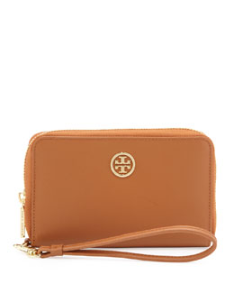 Tory Burch Robinson Smart-Phone Wristlet Wallet, Luggage